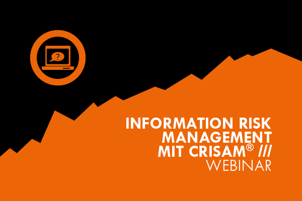 Information Risk Management mit CRISAM Webinar